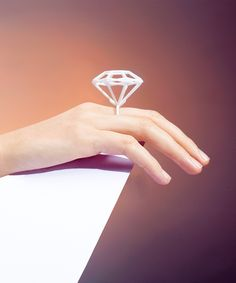 Small #3Dprinted Jewel Ring #gifts Like 3D printed #jewelry? Morpheus custom makes jewelry from images using 3d printing technology http://www.morphe.us.com/