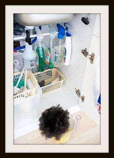 ~~***A Small PVC Pipe Installed Under Cabinets Make A Great Place To Store Spray Bottles***~~