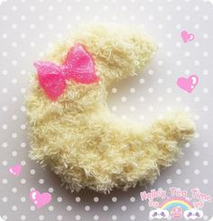 Fuzzy Moon 2 way clip fairy kei pop kei sweet by HolleyTeaTime, $8.00