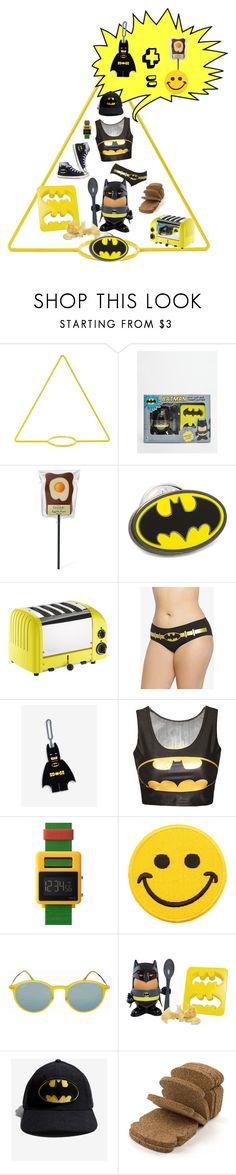 """batman & toast"" by free-my-spirit ❤ liked on Polyvore featuring New Made LA, Paladone, Cufflinks, Inc., Williams-Sonoma, Torrid, Warner Bros., Converse, Void, Hollywood Mirror and Ray-Ban"