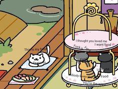 Neko Atsume Cat Games, Kitty Games, I Love Cats, Cool Cats, Funny Animals, Cute Animals, Simons Cat, Neko Atsume, Pusheen Cat