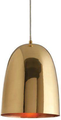 DwellStudio brass dome pendant #brass #pendant #light