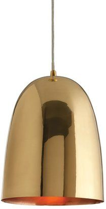 DwellStudio brass dome pendant #brass #pendant #light