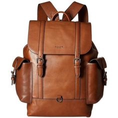 Inside zip and multifunction pockets. Buckle closure, fabric lining. Coach Backpack, Backpack Bags, Leather Backpack, Fashion Backpack, Trendy Backpacks, Men's Backpacks, Handbags For Men, Leather Handbags, Leather Bags