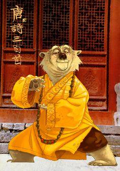 Bear doors via Lautrette Character Poses, Character Design References, Character Art, Qi Gong, Guerrero Dragon, Kung Fu Panda 3, Dragon Warrior, Animation Film, Animal Design