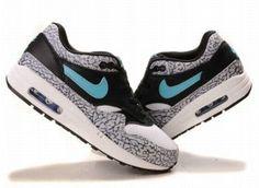 Nike J1b6 Air Max 1 Herren Laufschuhe Wei?/Grau/Blau
