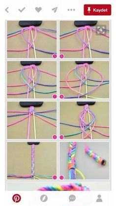 Braclets Diy Diy Bracelets With String Macrame Bracelet Diy String Bracelet Patterns Yarn Bracelets Making Bracelets Friendship Bracelet Patterns Macrame Jewelry Friendship Bracelets Yarn Bracelets, Diy Bracelets Easy, Embroidery Bracelets, Bracelet Crafts, Jewelry Crafts, Handmade Jewelry, Gold Bracelets, Braclets Diy, Jewelry Ideas