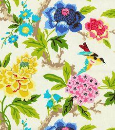 Home Decor Print Fabric- Waverly Candid Moment Gardenia