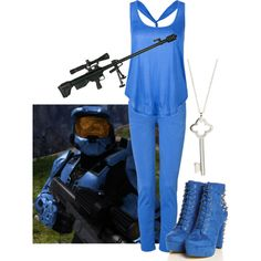 """""""C is for... Church (Red vs Blue)"""" by nefatari on Polyvore"""