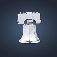 Metal Earth 3D Laser Cut Model Liberty Bell