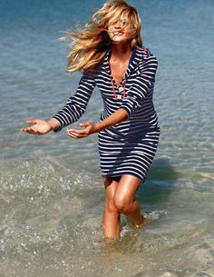 Boden Towelling beach robe