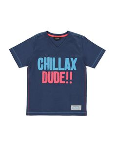 Chillax Dude!! Slogan Print Cotton Short Sleeve T-shirt | Boys | George at ASDA