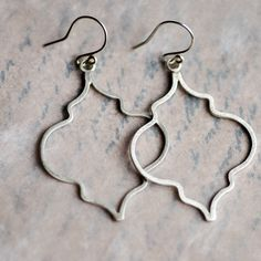 Moroccan Silhouette Earrings hand wrought with by CherishedBijou, $66.00