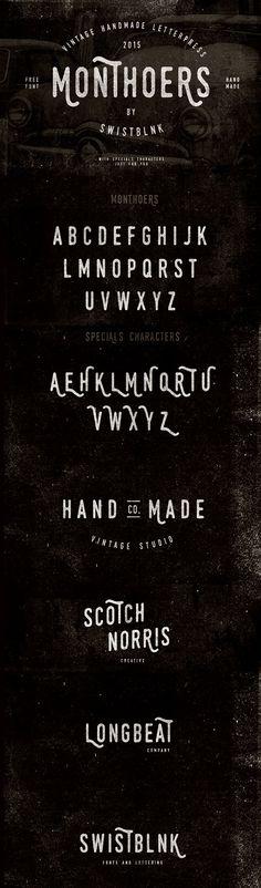 Monthoers – Free Vintage Grunge Font