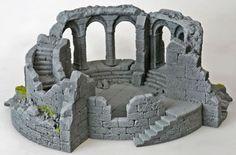 Ruined watchtower terrain piece