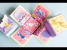 How to Make - Exploding Box Birthday - Step by Step   Eksplodujące Pudełko Urodziny Walentynki - YouTube