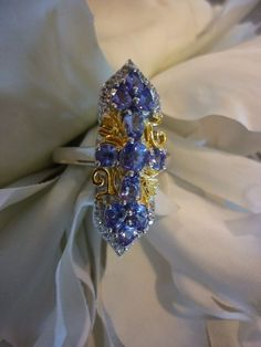 Tanzanite White Topaz ring in 14K YG Over Sterling Silver Size 7 = 2.64 TCW  #BirthdayAnniversarymothersdayJustBecause