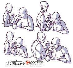 Drawing Tutorial kibbitzer is creating Reference sheets, tutorials and Figure Drawing Reference, Drawing Reference Poses, Hand Reference, Poses References, Art Poses, Drawing Base, Art Tutorials, Drawing Tutorials, Painting Tutorials