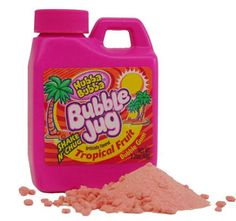 vintage 1990s hubba bubba bubble jug powdered gum// This was the best stuff ever! Why did they stop making it?