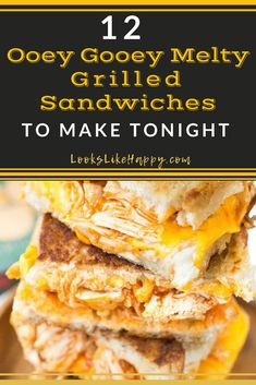 The 12 Best Marvelously Melty Grilled Sandwiches to Make Tonight! Grilled Sandwich, Best Sandwich, Sandwich Recipes, Lunch Recipes, Easy Dinner Recipes, Dinner Ideas, Fast Dinners, Quick Easy Meals, Pressed Sandwich
