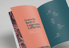 Layout Design 'Basic of Copperplate Calligraphy' on Behance #contents