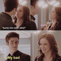 """Sorry""  →""My bad""  #Snowbarry #StopToBumpLikeThis #TheFlash"