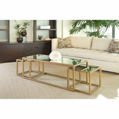 Grace Rectangular Mirror Cocktail Table