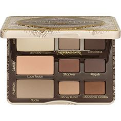 Too Faced Natural Matte Eye Palette ($36) ❤ liked on Polyvore featuring beauty products, makeup, eye makeup, eyeshadow, beauty, eyes, make, matte palette eyeshadow, sexy eye makeup and palette eyeshadow
