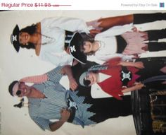 Pirate Costumes--Multi Sizes--HARD FIND--Uncut Pattern-- 15-40% off Patterns n Books SALE by altcollect. Explore more products on http://altcollect.etsy.com