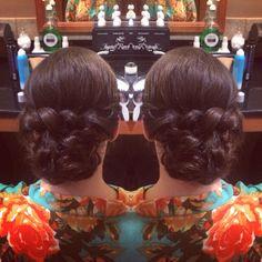 Hair by michelle m. Wedding updo/ twist
