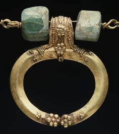 Roman Gold Lunula Pendant, 1st century AD, Walters Museum, Baltimore, Maryland, bequeathed in 1931 by Henry Walters, #57.525.