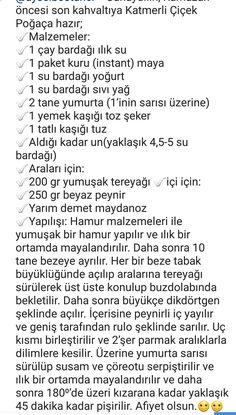 KATMERLİ ÇİÇEK POĞAÇA Turkish Tea, Turkish Delight, Tea Time Snacks, Turkish Recipes, Deserts, Food And Drink, Recipes, Pink, Bakken