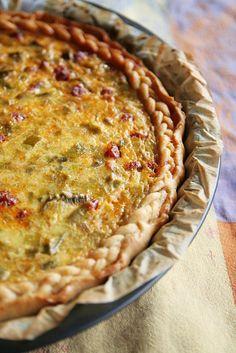 Découvrez notre recette de Tarte aux poireaux, paprika et chorizo