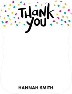 Brilliant Blowout - Thank You Cards - Jill Smith - Black : Front