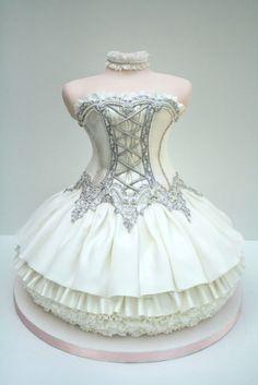 special-ballet-dress-cake-design-unique-tea-party-bridal-shower-or-wedding-shower-cake-ideas-kina-geceleri-ve-dogumgunu-partileri-icin-ozel-tasarim-pastalar. Gorgeous Cakes, Pretty Cakes, Cute Cakes, Amazing Cakes, Crazy Cakes, Fancy Cakes, Unique Cakes, Creative Cakes, Wedding Shower Cakes