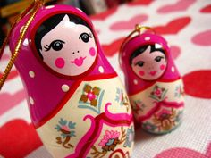 Matryoshka Christmas Ornaments