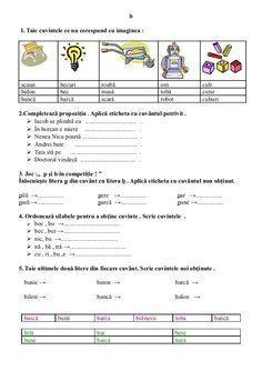 6654510 fise-limba-romana-clasa-i Romanian Language, Nicu, Alphabet, Nostalgia, Bullet Journal, Children, David, Can, Young Children