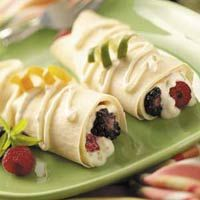 Breakfast Crepes with Berries Photo - Taste of Home's Top 10 recipes for 200 calorie breakfasts