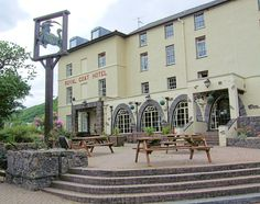 The Royal Goat Hotel in Snowdonia, Wales - when I stayed it was the base for a disabled race up Snowdon; with the disabled people being carried by a team of the less disabled