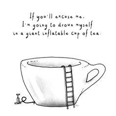 Giant/tiny tea