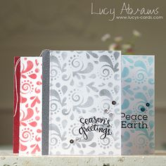 Stencilled Christmas Card Set by Lucy Abrams by Lucy Abrams, via Flickr