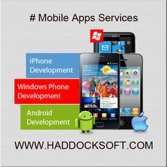 We offer services in developing mobile #applications for the #Android OS. The interest and expertise that our developers congregated over the years, allow them to #develop, test and port proven solutions to the #Android platform. http://www.haddocksoft.com/mobile-apps-development