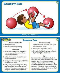 Therapy Ball Activities Fun Deck - 60 activity cards In the box: 60 activity cards, introduction card, 2 table of content cards Work. Occupational Therapy Activities, Pediatric Occupational Therapy, Therapy Games, Motor Skills Activities, Pediatric Ot, Movement Activities, Sensory Activities, Physical Activities, Physical Education