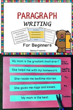 This paragraph writing resource contains 8 cut and paste paragraphs where students are required to arrange the sentences in the correct order (topic sentence, supporting sentences, conclusion). It also has some blank organizers for writing simple paragraphs. Great for beginners!