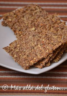 Más allá del gluten...: Crackers de Linaza y Coliflor (Receta GFCFSF, Vegana, RAW)