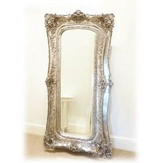 Silver Mirror Large Decorative Frame 180 x 89cm