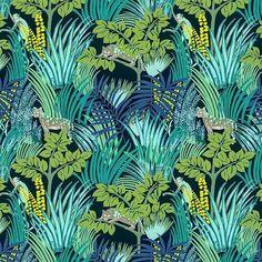 #wallpaper #kipling #jungle #tropical #best #love #interior #homedecor #jaguar
