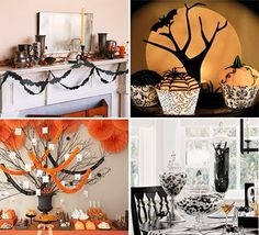Posh Pixels Design Studio: Throw a Sophisticated Halloween Party Halloween Backdrop, Chic Halloween, Halloween Banner, Halloween Table, Halloween Party Decor, Holidays Halloween, Baby Halloween, Halloween Themes, Halloween Crafts