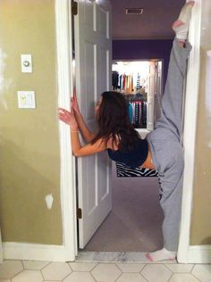 This is what every cheerleader does in her free time... really?? may have to start doing this for my jumps and kicks:)
