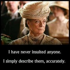 trendy funny quotes and sayings for women jokes thoughts Maggie Smith, Downtown Abbey Quotes, Funny Quotes About Life, Life Quotes, Funny Life, Witty Quotes, Humor Quotes, Downton Abbey Characters, Mejores Series Tv